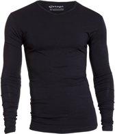 Garage 204 - T-shirt l/sl bodyfit V-neck black S 95%cotton/5% elastan