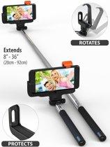 Selfie Stick Draadloos Met Bluetooth voor iPhone 7 / 7 Plus / 6 / 6S / 6 Plus / 6S Plus / SE / 5S / 5C / - Zwart