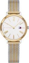 Tommy Hilfiger TH1782055 Horloge - Staal - Zilver- en goudkleurig - Ø 28 mm