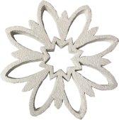 Deco hanger sneeuwvlok wit glitter - Alldeco -19x2cm