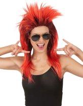 Rode punk pruik voor vrouwen - Verkleedpruik