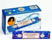 Wierook Satya Nag Champa Agarbatti klassiek staafjes 12 pakjes