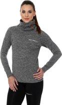 Brubeck | Dames Outdoor Trui / Sweater - outdoortrui - Grijs Melange - Maat S