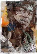 Jimi Hendrix canvas (40x60cm)