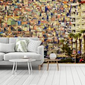 Fotobehang vinyl - Stadsgezicht van Izmir in het Europese Turkije breedte 360 cm x hoogte 270 cm - Foto print op behang (in 7 formaten beschikbaar)