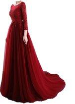 Galajurk , Avondjurk damesjurk rode lang jurk  Rood  sexy backless jurk