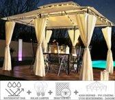 Partytent - 4x3 - Waterdicht Dak - Zijwanden - Insectennet - Solar - Beige Paviljoen