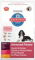 Hill's Science Plan Canine Advanced Fitness - Medium - Kip - Hondenvoer - 12 kg