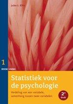 Statistiek voor de psychologie 1 - Verdeling van een variabele, samenhang tussen twee variabelen