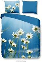 Good Morning 6049-P Sunny - dekbedovertrek - lits jumeaux - 240x200/220 cm - 100% katoen - blauw