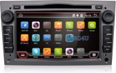 Android navigatie radio Opel Astra Corsa Zafira Vectra Vivaro, 7 inch scherm, Canbus, GPS, Wifi, Mirror link, OBD2, Bluetooth, 3G/4G 2 kleurig