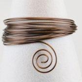 Aluminium draad - Aluminium wire 4mm 10m chocolate - 1 stuk