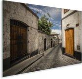 Een straat bij de Peruviaanse Colca Canyon in Zuid-Amerika Plexiglas 90x60 cm - Foto print op Glas (Plexiglas wanddecoratie)
