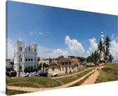 Panorama van het Aziatische Fort Galle in Sri Lanka Canvas 80x40 cm - Foto print op Canvas schilderij (Wanddecoratie woonkamer / slaapkamer)