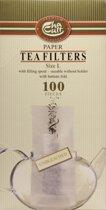 Theefilters maat L |  100 stuks