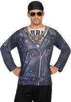 Motor biker verkleed shirt voor heren - Punker t-shirt