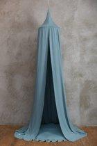 FUJL – Hemeltje – Klamboe – sluier – handgemaakt – Donker Groen– Lengte 240cm