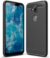 Nokia 8.1 hoesje - Rugged TPU Case - zwart