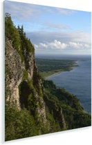 Groene bergen in het Nationaal park Forillon in Canada Plexiglas 30x40 cm - klein - Foto print op Glas (Plexiglas wanddecoratie)