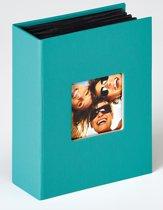 Walther Fun - Fotoalbum insteek - 100 foto's 10x15 cm - Petrolgroen - Linnenstructuur