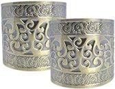 2x Romeinse / Griekse verkleed armbanden van goud