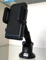 Universele Telefoon Houder voor in de Auto met zuignap en verstelbare arm & handig kliksysteem - 360 graden draaibaar – versie vierkant & zwart