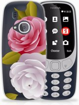 Nokia 3310 (2017) Uniek TPU Hoesje Roses