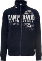 Camp David donkerblauw sweatvest uit de