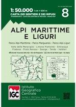 Alpi Liguri 1:50 000 Wanderkarte 8