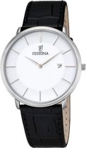 Festina F6839/2 Klassiek - Horloge- Staal - Zilverkleurig - 40.5 mm