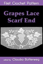 Grapes Lace Scarf End Filet Crochet Pattern