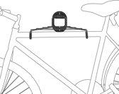 relaxdays Ophangsysteem fiets - Ophangbeugel / fietsophangsysteem muur - Incl. rooster.
