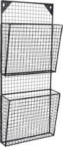 LOFT42 - Maggy - Gaas - Tijdschriftenrek - Large - 2-Vaks - Zwart - Metaal
