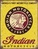 Signs-USA Indian Motorcycles Since 1901 - Retro Wandbord - Metaal - 40x30 cm