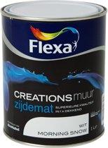 Flexa Creations - Muurverf Zijdemat - Morning Snow - 1 liter - 2 Stuks