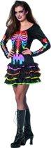 Skelet jurkje rainbow voor dame