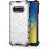 Let op type!! Schokbestendige honingraat PC + TPU beschermende case voor Galaxy S10e (wit)