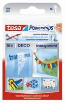Tesa Powerstrips Deco Kleefstrip Transparant 16 Stuks