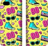 Mobigear 90s Design Wallet Bookcase Hoesje 5 iPhone 6 / 6s