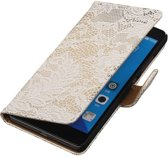 Huawei Honor 7 Wit | Lace bookstyle / book case/ wallet case Hoes  | WN™