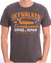 Star Wars - Landspeeder Repair Mannen T-Shirt - Grijs - M