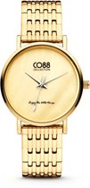 CO88 Collection 8CW-10067 - Horloge - stalen band - goudkleurig - Ø 32 mm