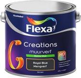Flexa Creations - Muurverf Extra Mat - Royal Blue - Mengkleuren Collectie - 2,5 Liter