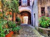 Papermoon Old Tuscan Village Vlies Fotobehang 200x149cm 4-Banen