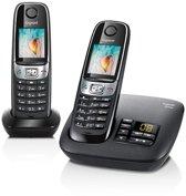Gigaset C620A - Duo DECT telefoon met antwoordapparaat - Zwart