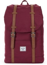 Herschel Supply Co. Retreat Mid-Volume Rugzak - Windsor Wine / Tan Synthetic Leather