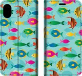Mobigear Tropical Design Wallet Bookcase Hoesje 8 iPhone Xs Max