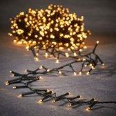 Luca Lighting kerstverlichting lichtsnoer - buiten - 1000 lampjes warm wit - flashfunctie - 2000 cm