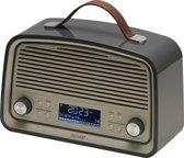 Denver DAB-38 DAB+/FM radio met alarmklok functie, Grijs RETRO