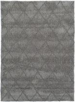 Modern tapijt met ruitdessin grijs - 155 x 220 cm
